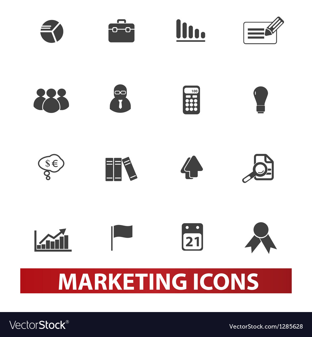 Marketing  market icons set vector | Price: 1 Credit (USD $1)