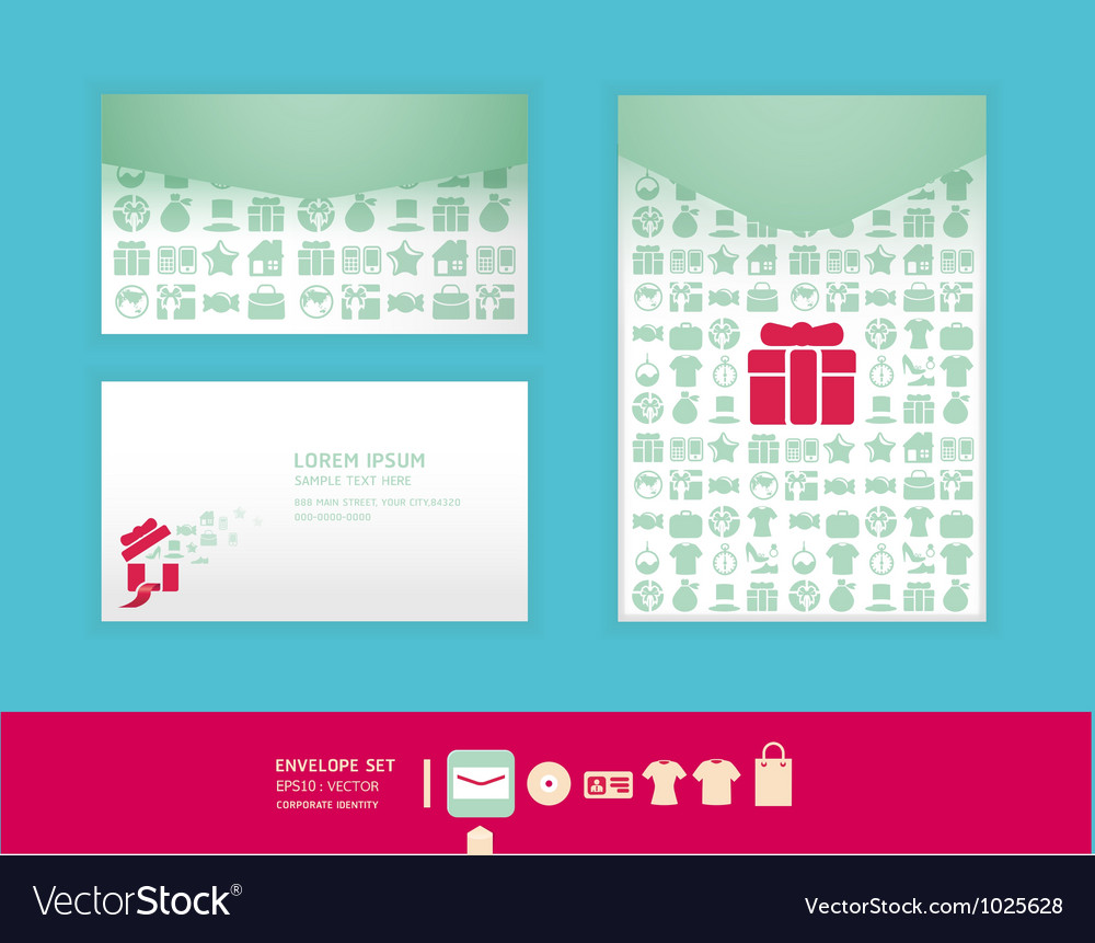 Modern soft color envelope design vector | Price: 1 Credit (USD $1)