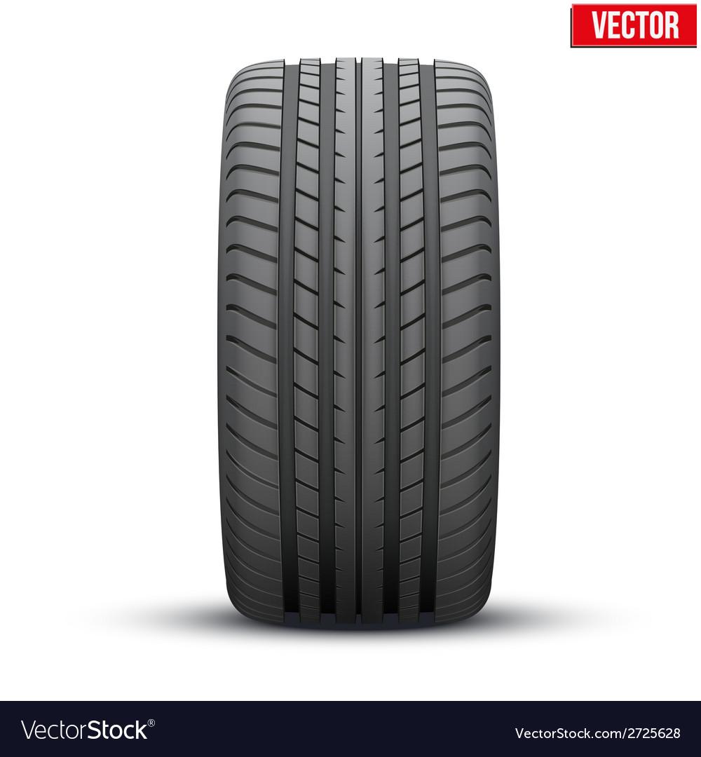 Realistic rubber tire symbol vector | Price: 1 Credit (USD $1)