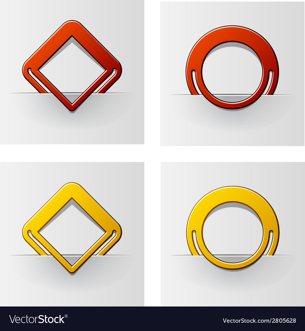 Red and yellow attached frames vector | Price: 1 Credit (USD $1)