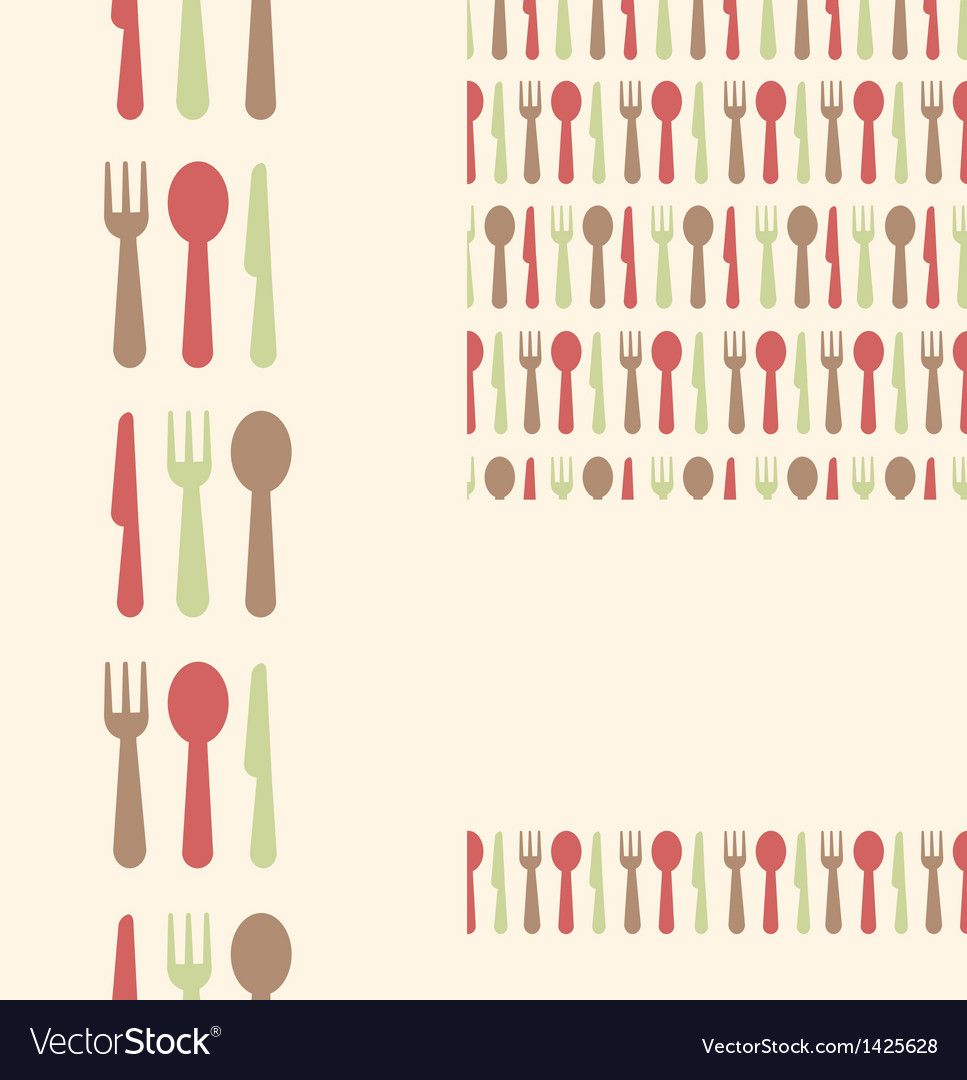 Set of three utensils seamless patterns and vector | Price: 1 Credit (USD $1)