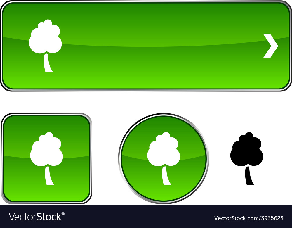 Tree button set vector | Price: 1 Credit (USD $1)