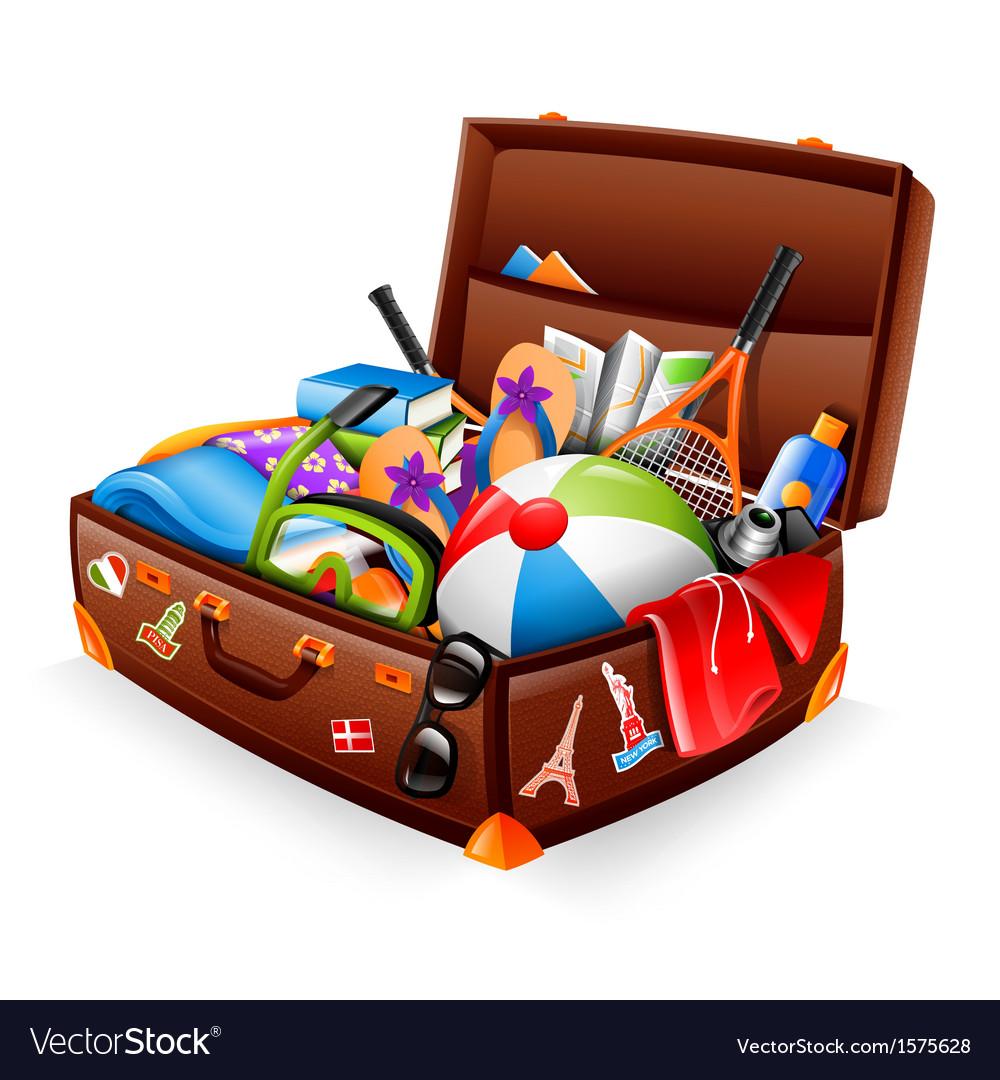 Vacation suitcase vector | Price: 1 Credit (USD $1)