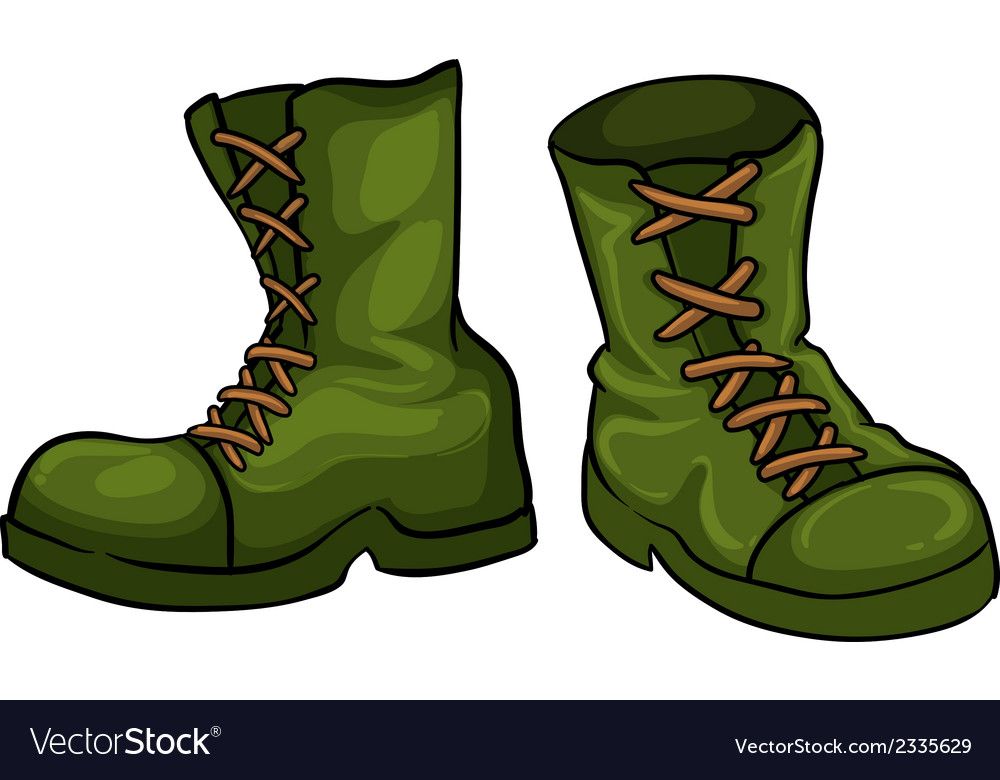 A pair of green boots vector | Price: 1 Credit (USD $1)