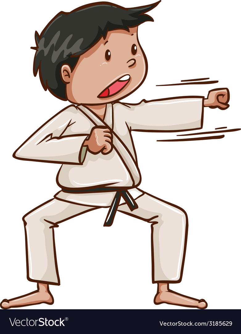 A plain drawing of a martial arts artist vector | Price: 1 Credit (USD $1)