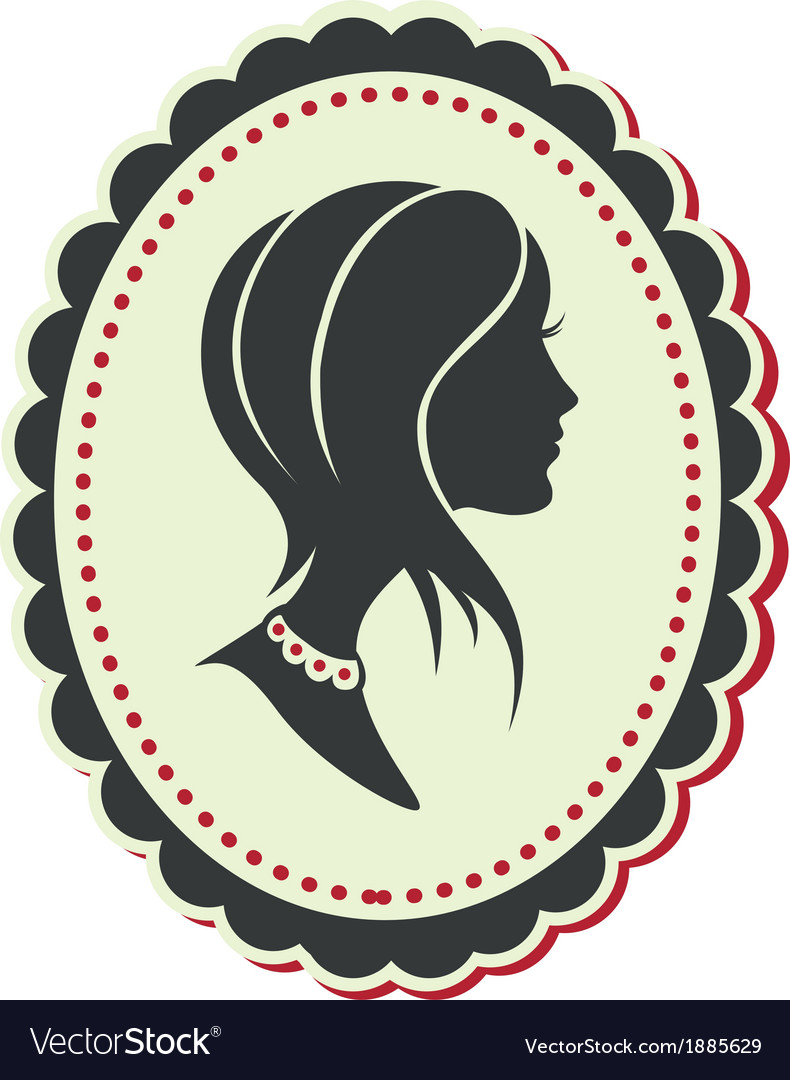 Cameo lady short hair vector | Price: 1 Credit (USD $1)