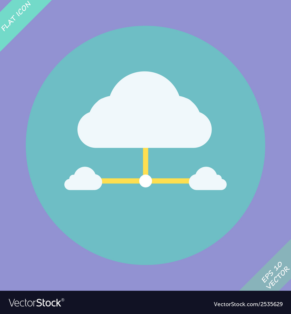 Cloud network connection - vector | Price: 1 Credit (USD $1)