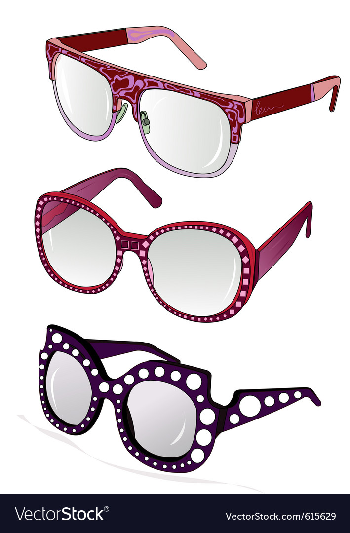 Funky glasses vector | Price: 1 Credit (USD $1)