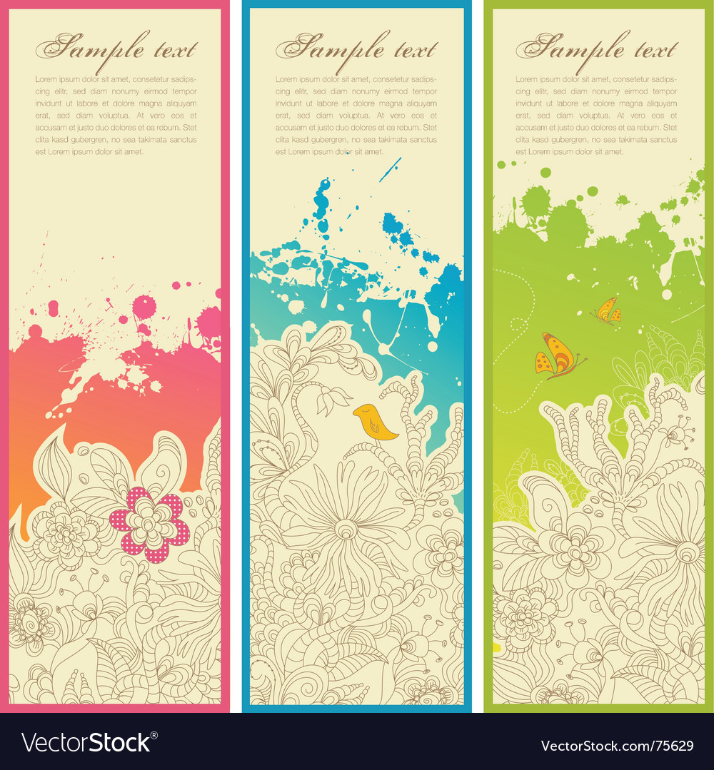 Garden banners vector | Price: 1 Credit (USD $1)