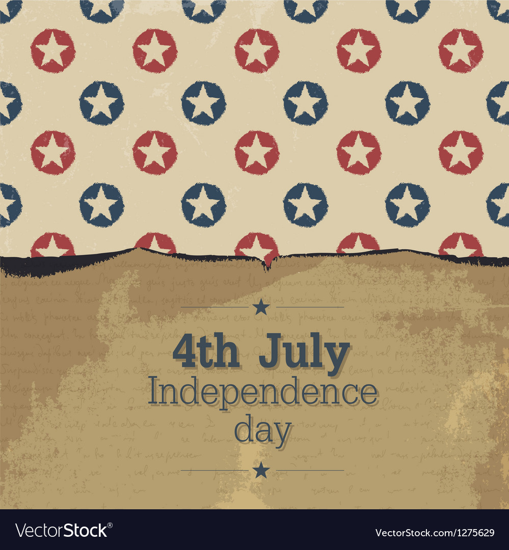 Independence day vintage poster template vector | Price: 1 Credit (USD $1)