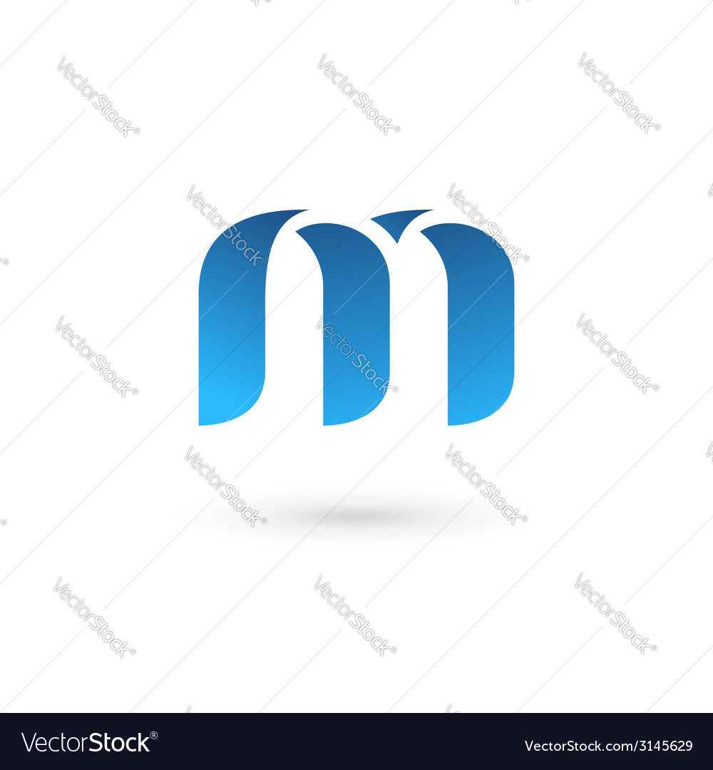 Letter m logo icon design template elements vector | Price: 1 Credit (USD $1)