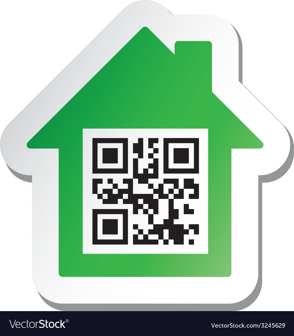 Qr code real estate sign vector | Price: 1 Credit (USD $1)