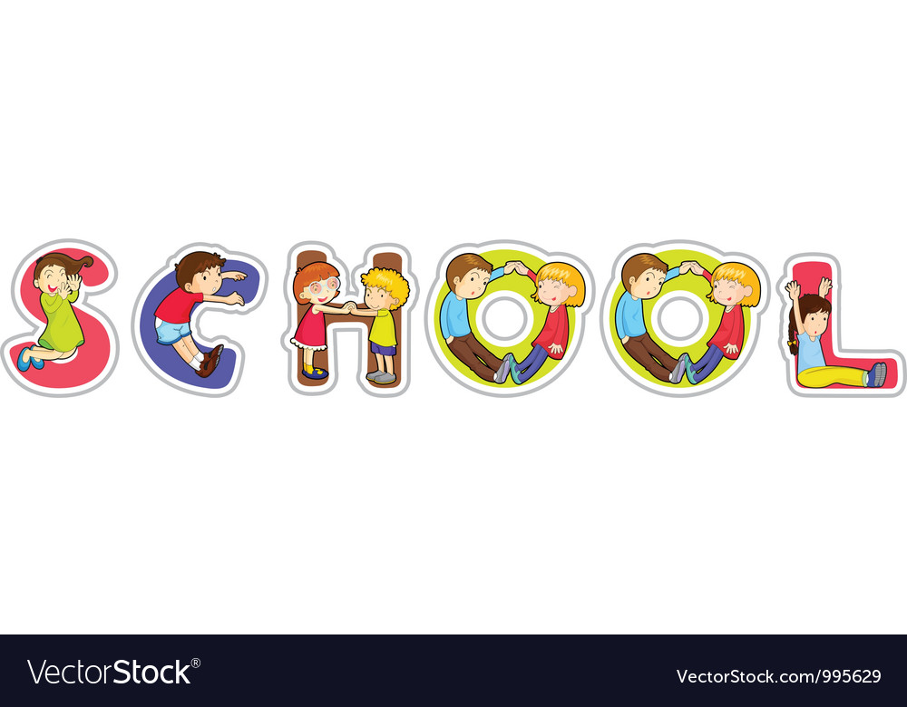 School sign vector | Price: 1 Credit (USD $1)