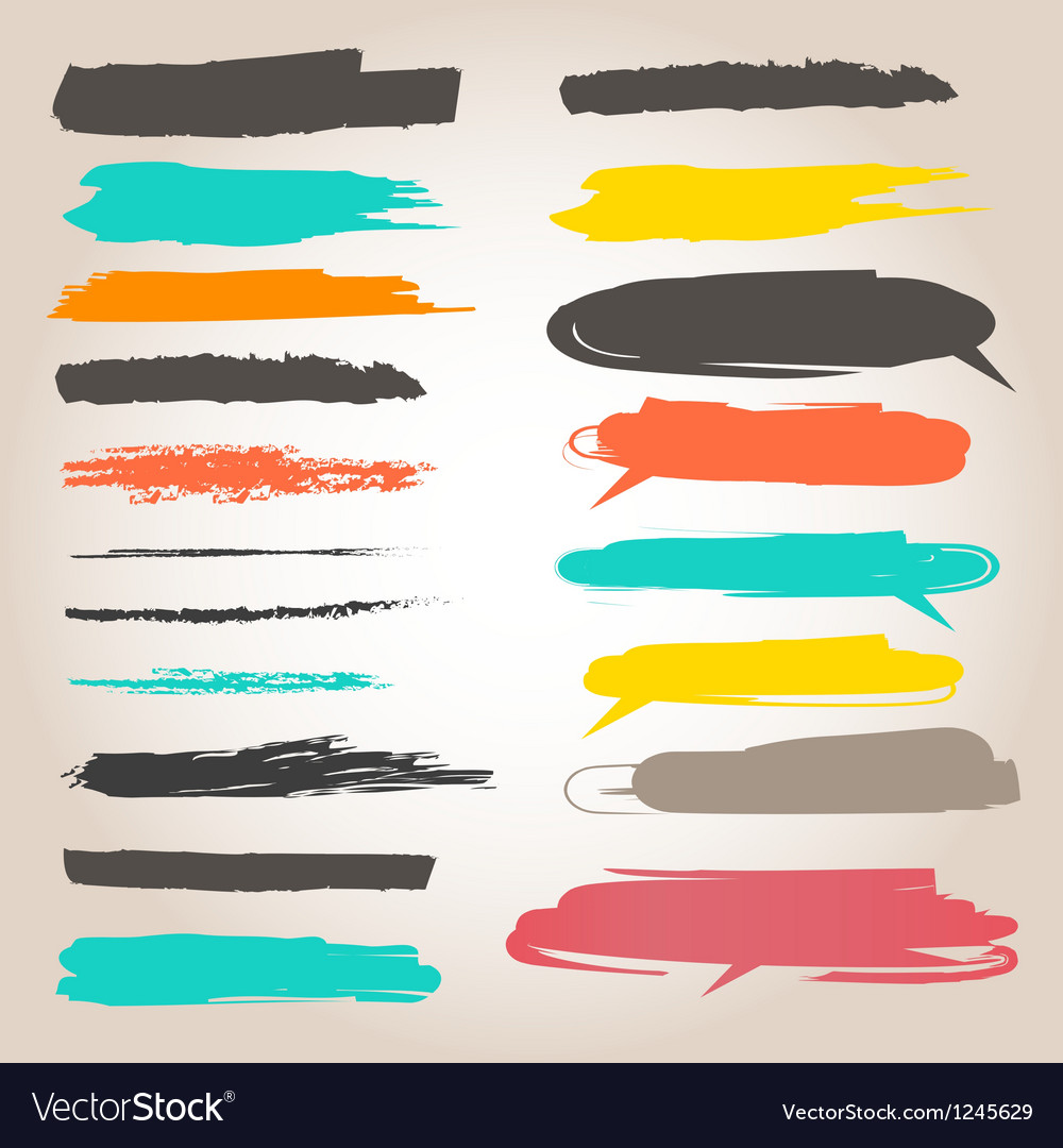 Underlining color samples vector | Price: 1 Credit (USD $1)