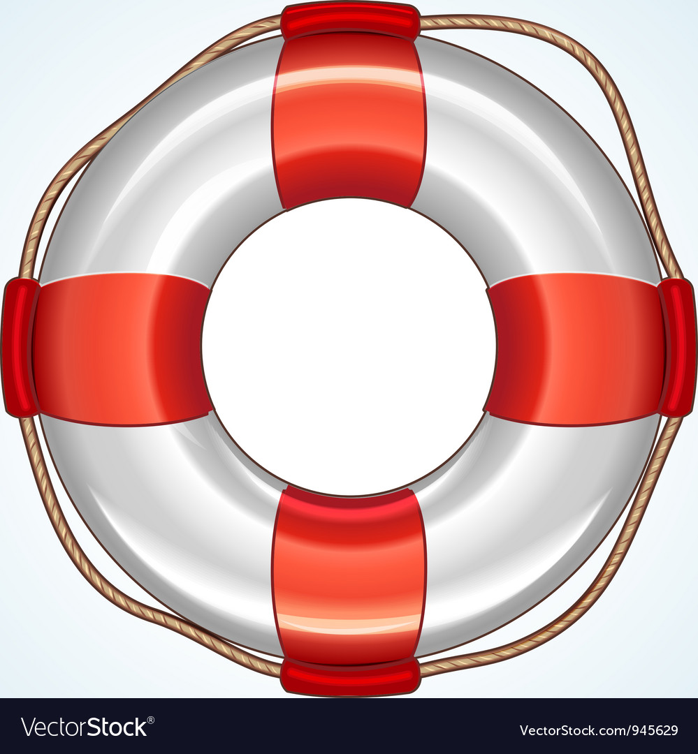 White life buoy icon vector | Price: 3 Credit (USD $3)