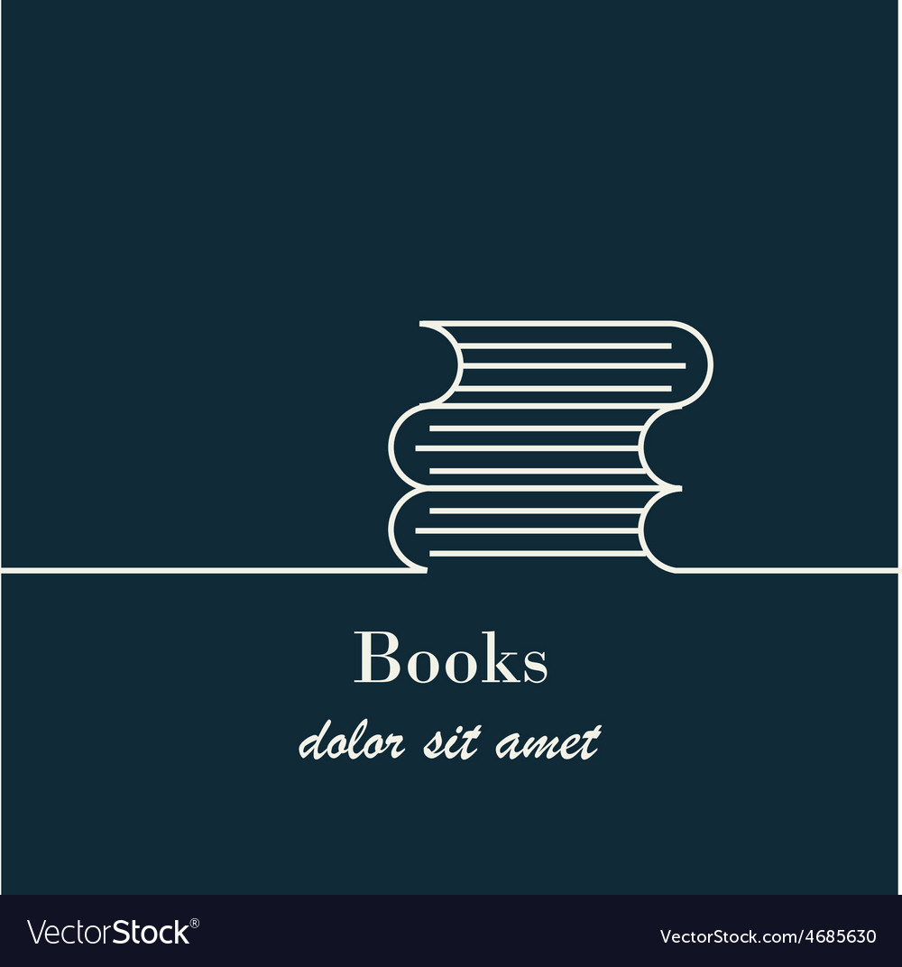 Abstract background with outline books sign vector | Price: 1 Credit (USD $1)