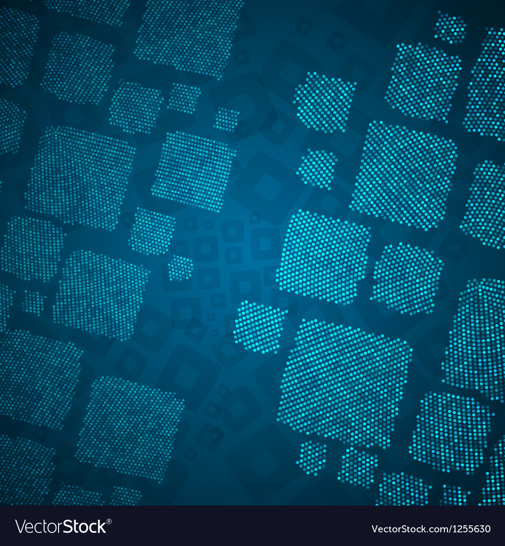 Abstract blue background with cube mosaic vector | Price: 1 Credit (USD $1)