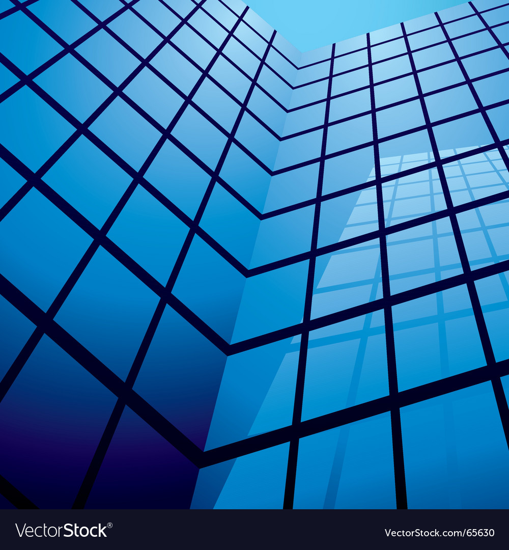 Abstract office building design vector | Price: 1 Credit (USD $1)