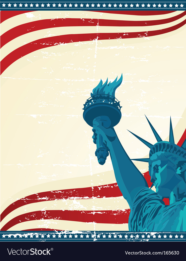 America poster template vector | Price: 1 Credit (USD $1)