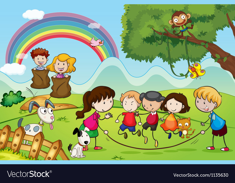 Animals and kids vector | Price: 1 Credit (USD $1)