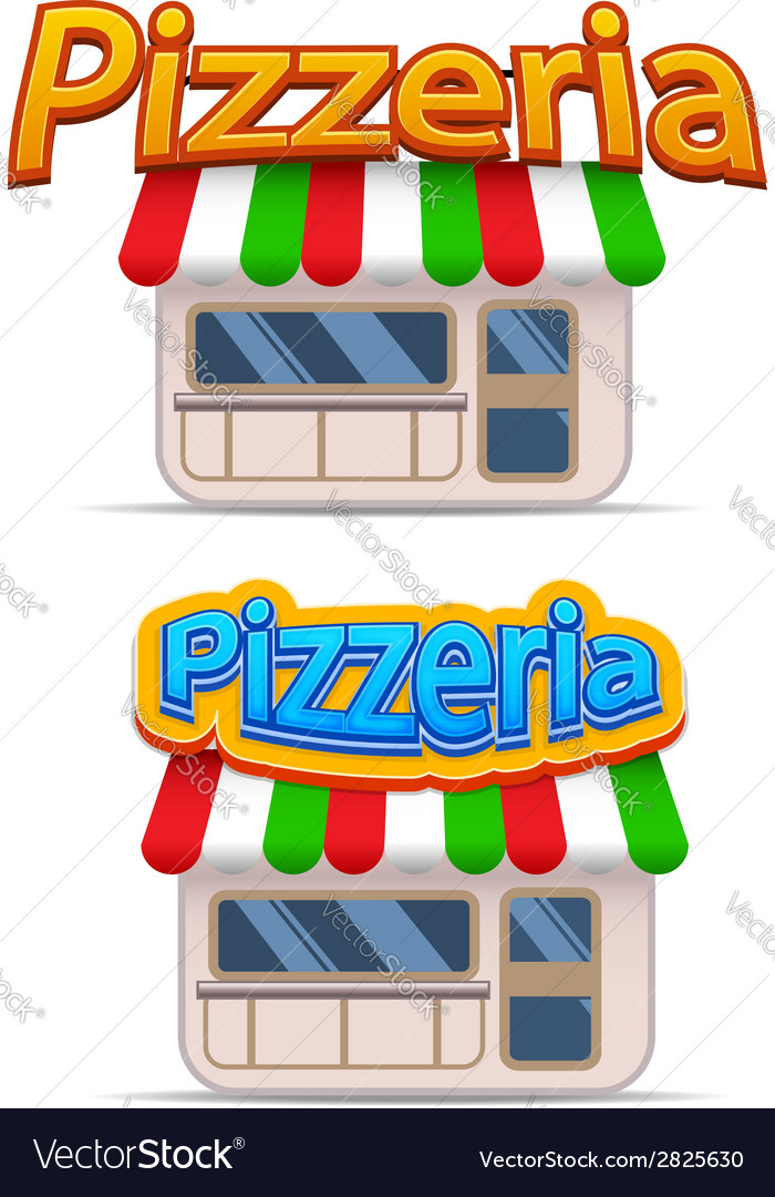 Cartoon pizzeria icon vector | Price: 1 Credit (USD $1)