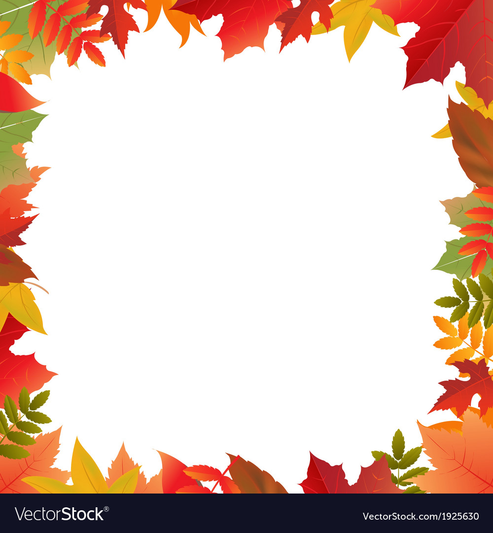 Color autumn frame vector | Price: 1 Credit (USD $1)