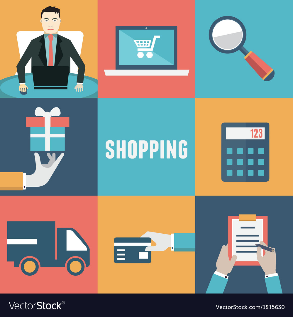 Concept of internet shopping vector | Price: 1 Credit (USD $1)