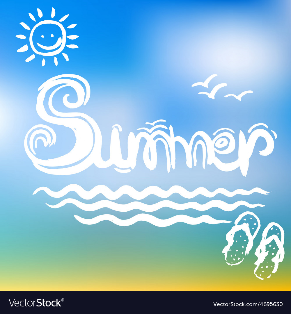 Creative graphic for summer watercolor vector | Price: 1 Credit (USD $1)