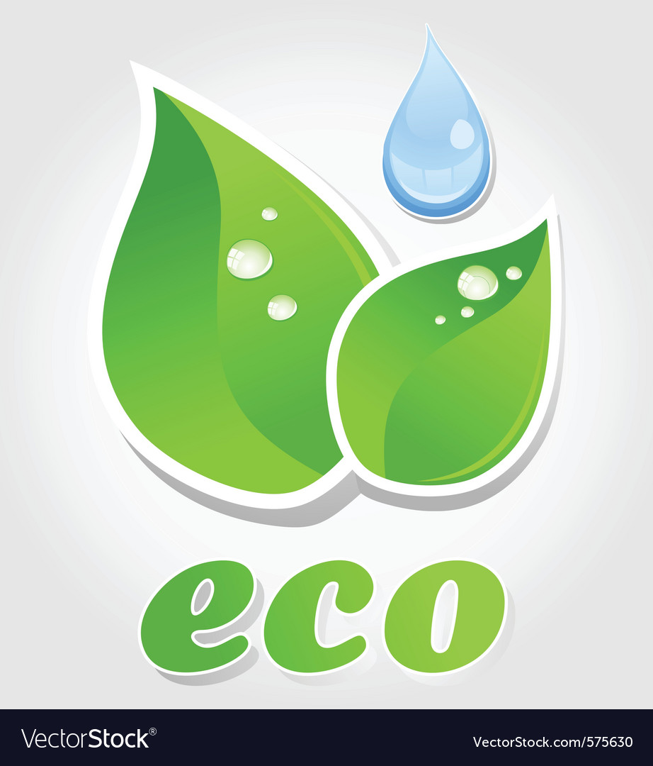 Eco leaf symbol vector | Price: 1 Credit (USD $1)