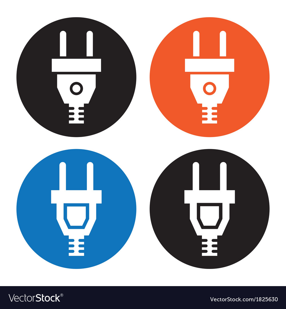 Electric plug icon vector | Price: 1 Credit (USD $1)