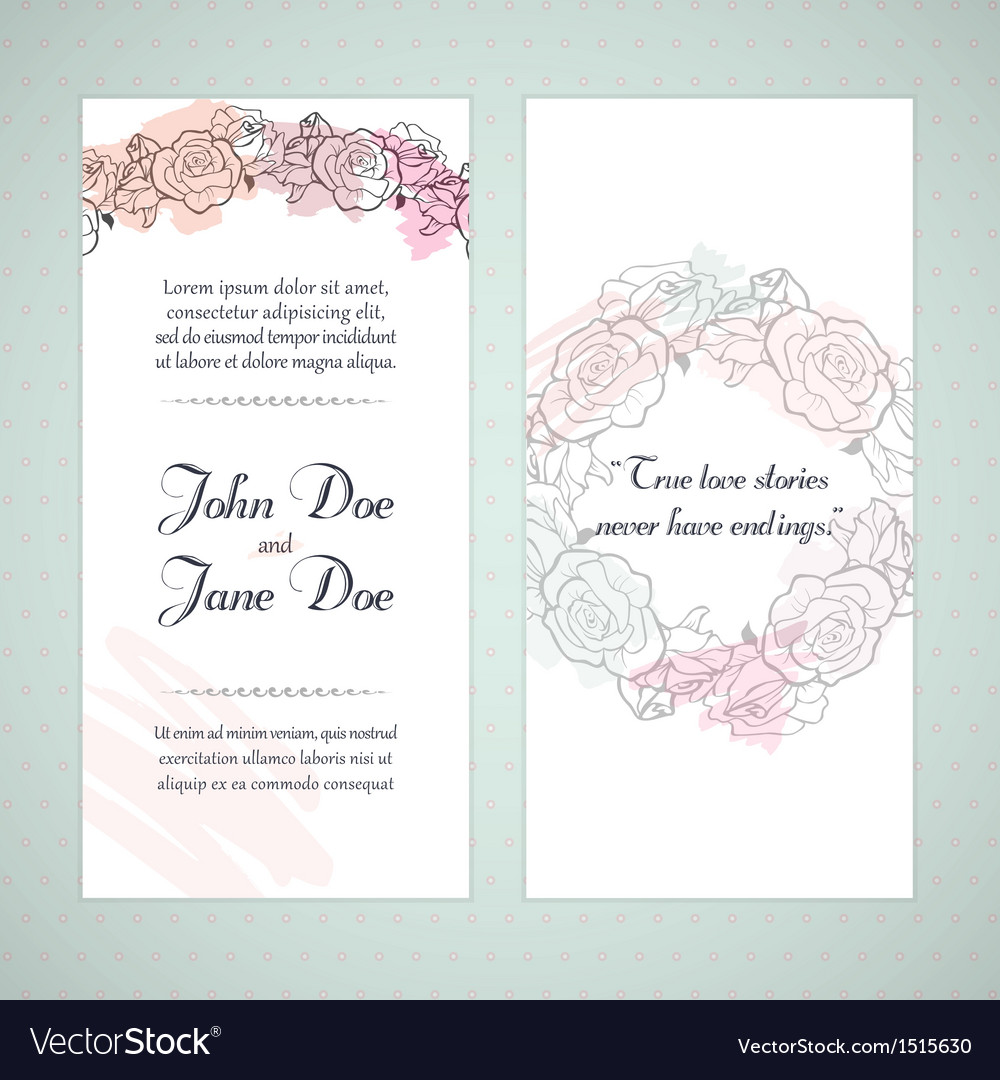 Floral invitation cards vector | Price: 1 Credit (USD $1)