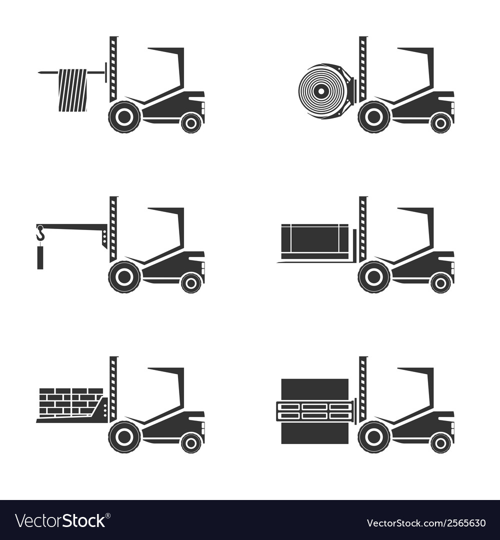 Forklifts vector | Price: 1 Credit (USD $1)