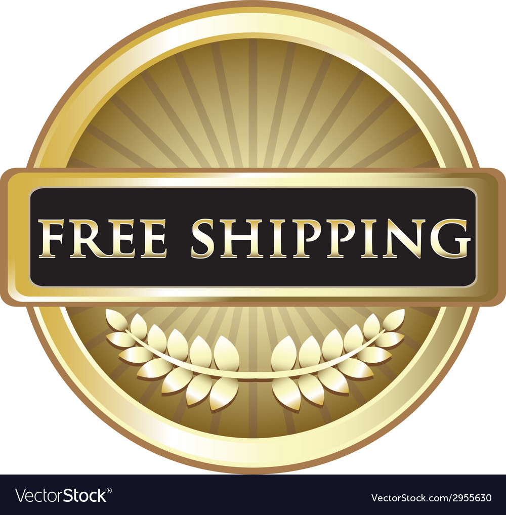 Free shipping gold emblem vector | Price: 1 Credit (USD $1)