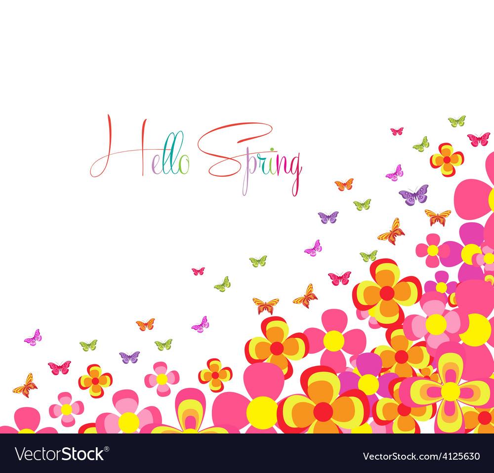 Hello spring vector | Price: 1 Credit (USD $1)