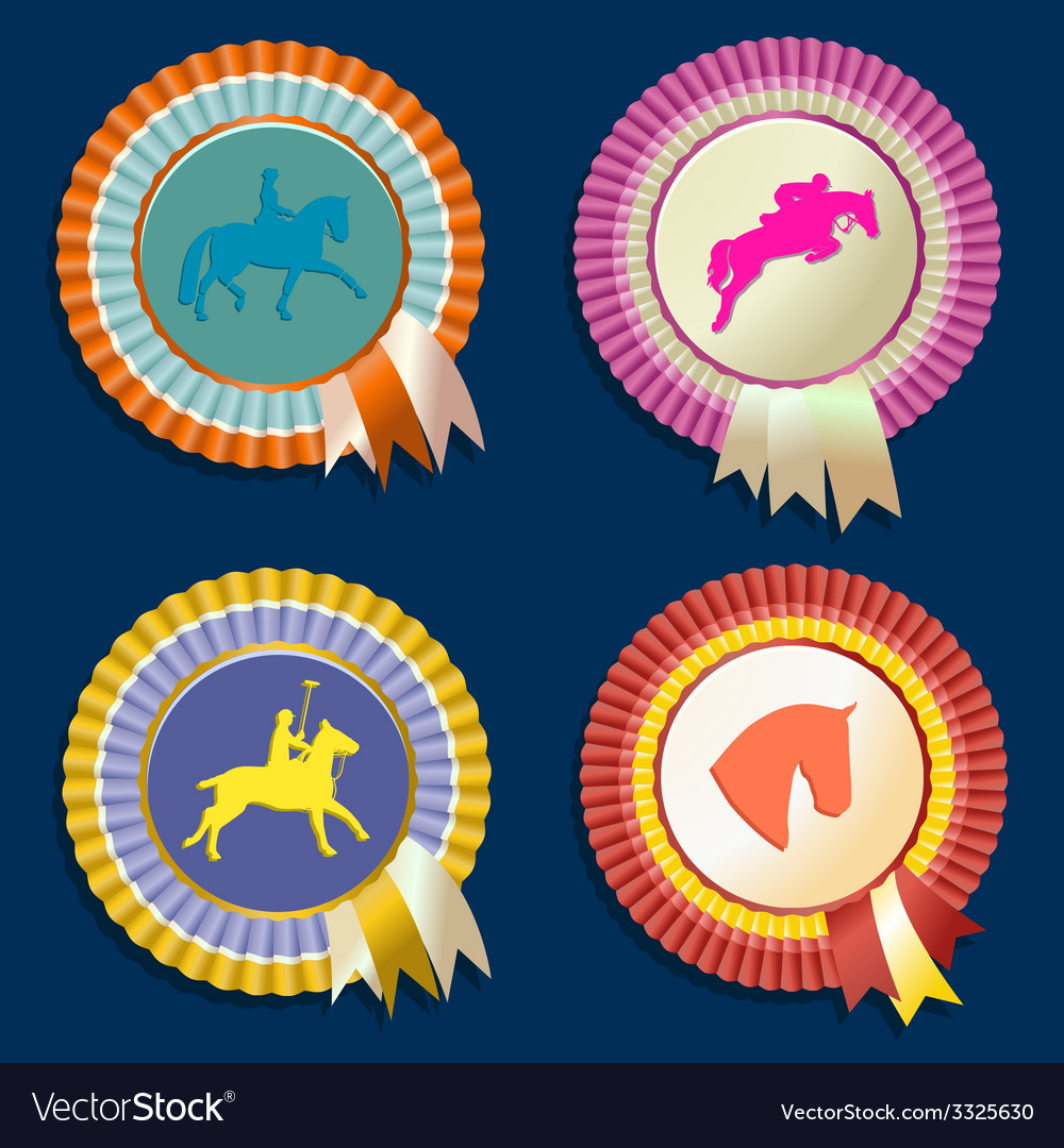 Horse rossette collection vector   Price: 1 Credit (USD $1)