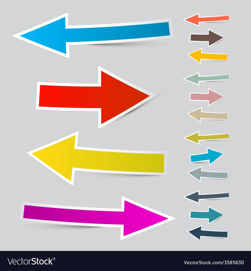 Paper arrows set vector   Price: 1 Credit (USD $1)