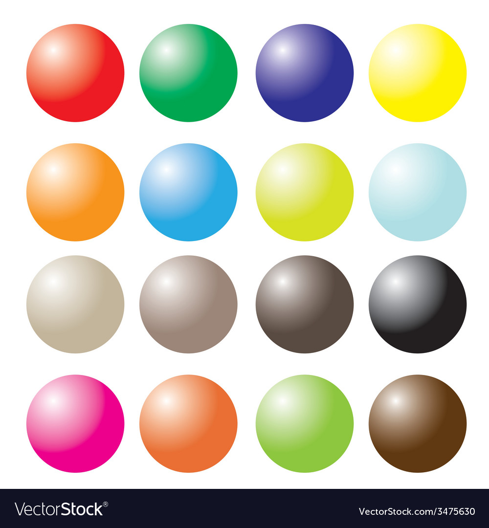 Set of colored ball vector | Price: 1 Credit (USD $1)