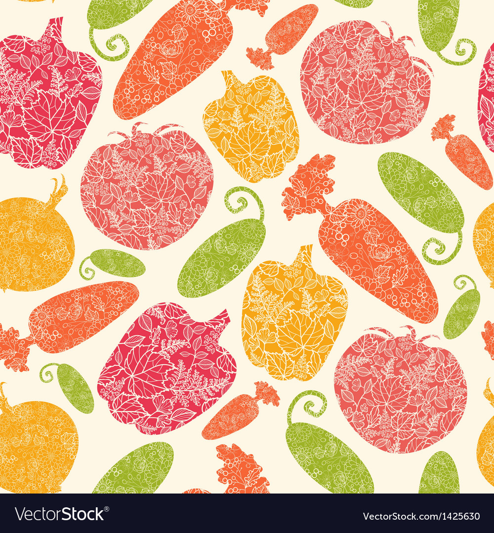 Textured vegetables seamless pattern background vector | Price: 1 Credit (USD $1)