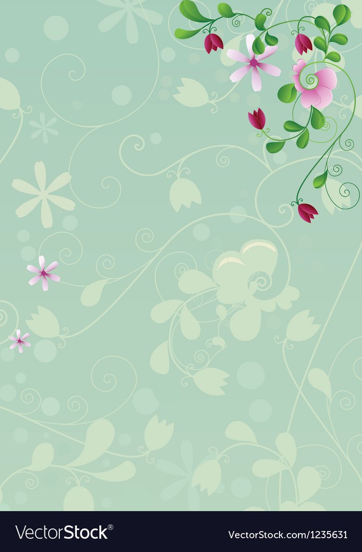 Abstract flower background vector | Price: 1 Credit (USD $1)
