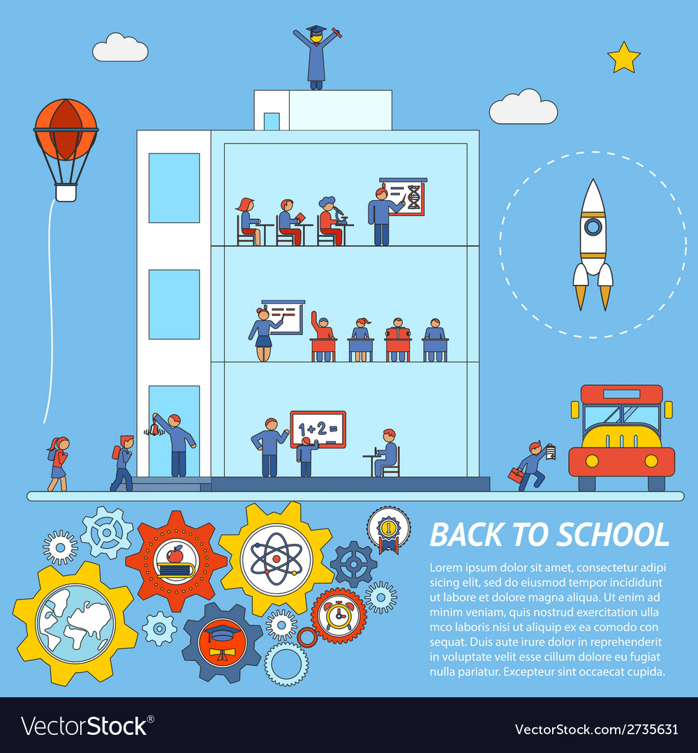 Back to school infographic template vector | Price: 1 Credit (USD $1)