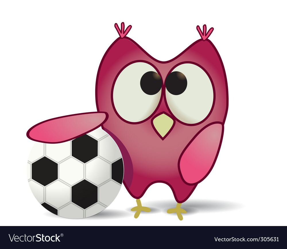 Ball and owl vector | Price: 1 Credit (USD $1)