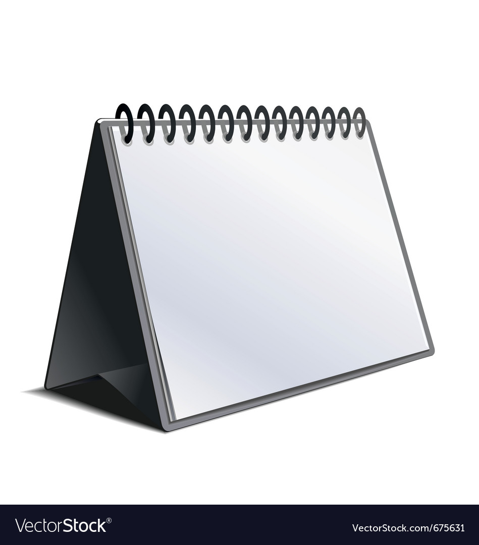 Blank calendar isolated on white vector | Price: 1 Credit (USD $1)