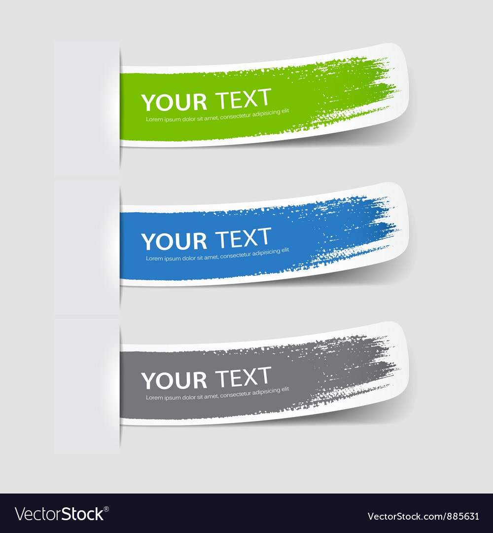 Collection label paper brush stroke vector | Price: 1 Credit (USD $1)