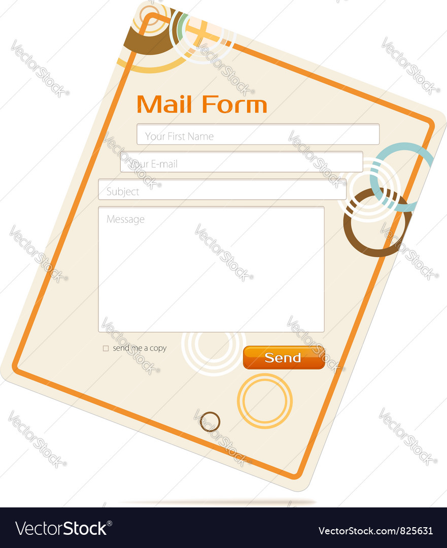 Contact form vector | Price: 1 Credit (USD $1)
