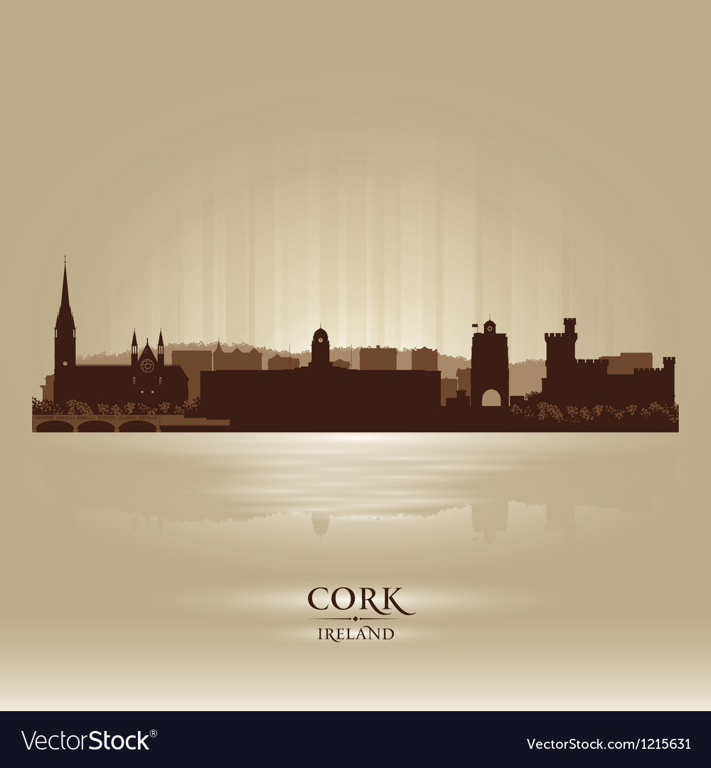 Cork ireland skyline city silhouette vector | Price: 1 Credit (USD $1)