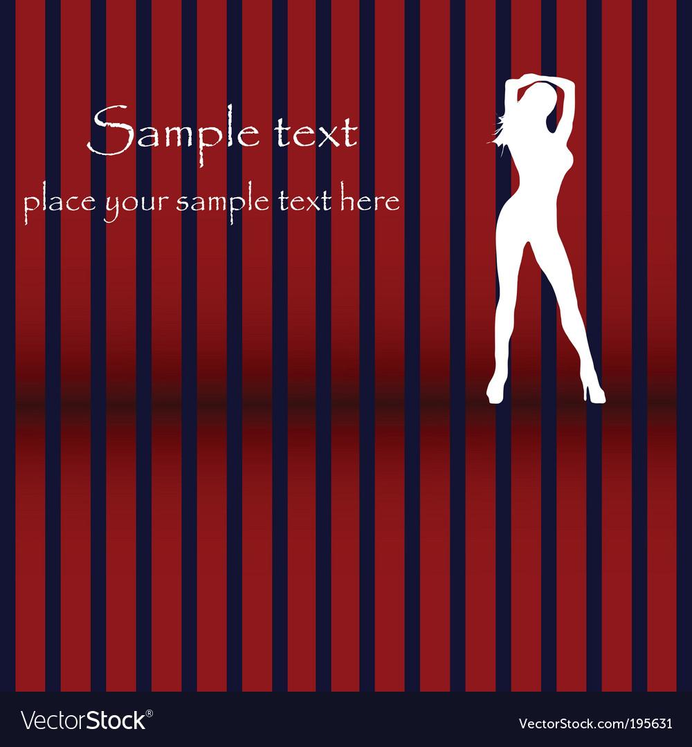 Dancing silhouette glam design vector | Price: 1 Credit (USD $1)