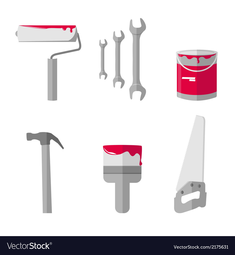 House remodel tools icons set vector | Price: 1 Credit (USD $1)