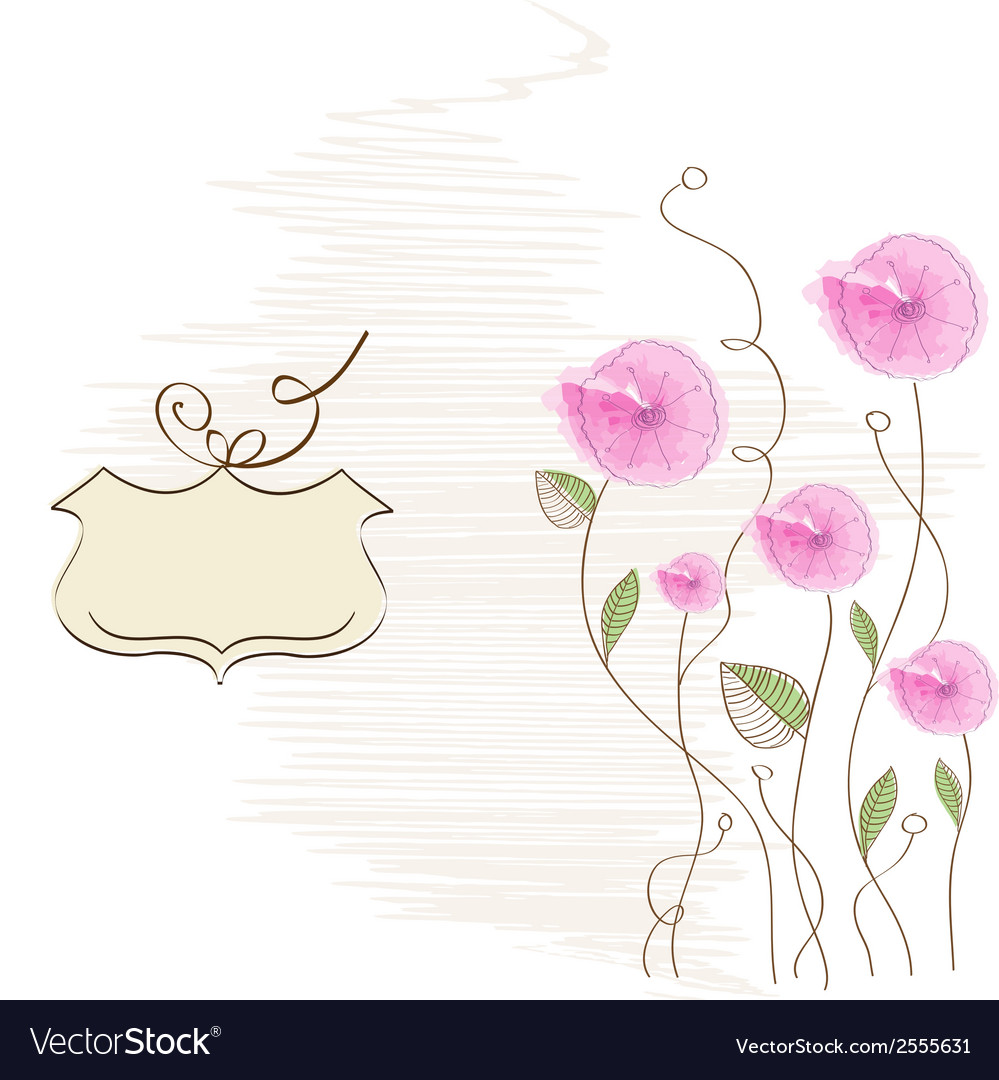 Romantic flowers background vector | Price: 1 Credit (USD $1)