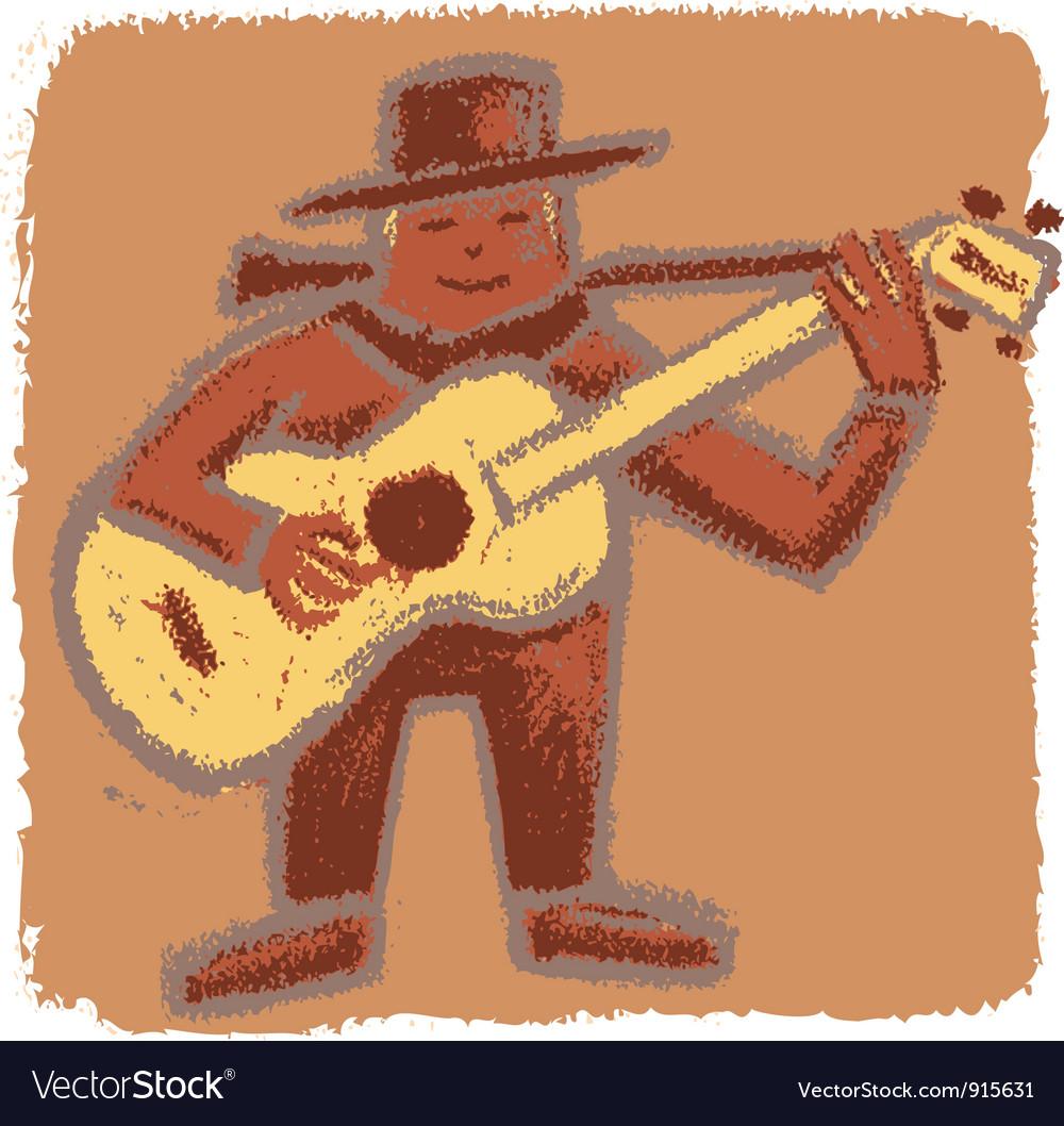 Rude bluesman vector | Price: 1 Credit (USD $1)