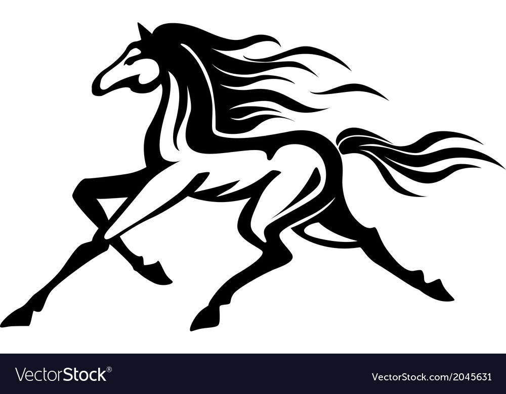 Running horse vector | Price: 1 Credit (USD $1)
